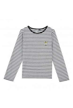 TEE SHIRT  STRIPED LUREX...
