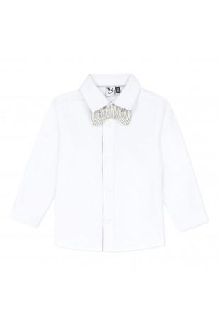 Λευκό πουκάμισο με παπιγιόν