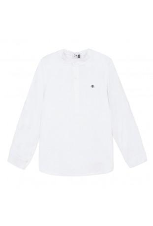 Λευκό λινό πουκάμισο