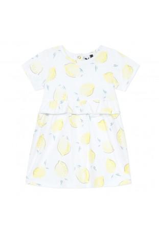 Φόρεμα με σχέδιο λεμόνια