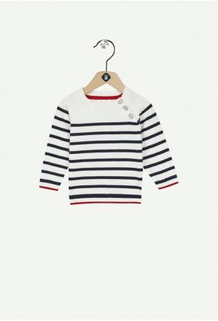 Pull tricot raye