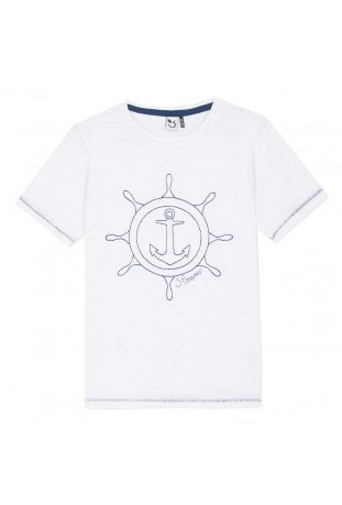Κοντομάνικη μπλούζα με σχέδιο