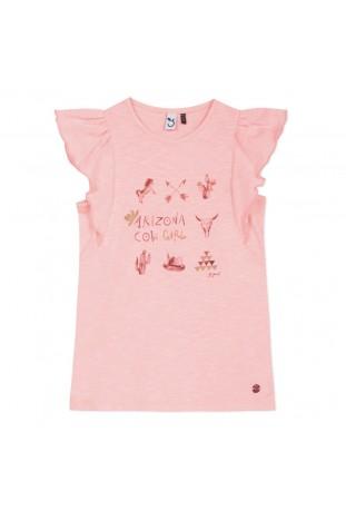 Ροζ κοντομάνικο κορίτσι