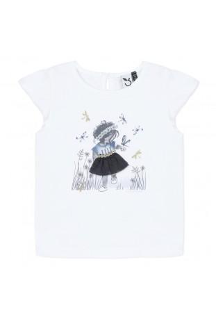 Λευκή μπλούζα κορίτσι
