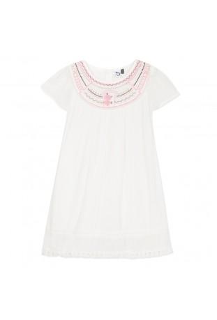 Λευκό φόρεμα με κέντημα