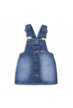 washed denim pinafore HAPPY...