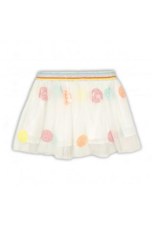 mesh skirt with glitter...